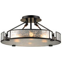 Lindhurst 4 Light 21 inch Oil Rubbed Bronze Semi Flush Mount Ceiling Light