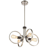 ELK 57105/4 Hover 4 Light 20 inch Satin Nickel with Matte Black Pendant Ceiling Light
