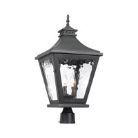 ELK Lighting Camden 3 Light Outdoor Post Light in Charcoal 5713-C