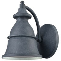 ELK 57160/1 Langhorn 1 Light 9 inch Aged Zinc Outdoor Sconce