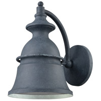 Langhorn 1 Light 12 inch Aged Zinc Outdoor Sconce