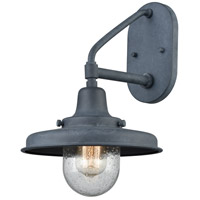 Vinton Station 1 Light 15 inch Aged Zinc Outdoor Sconce