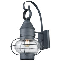 Onion 1 Light 18 inch Aged Zinc Outdoor Sconce