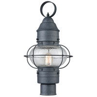 ELK 57172/1 Onion 1 Light 19 inch Aged Zinc Outdoor Post Mount