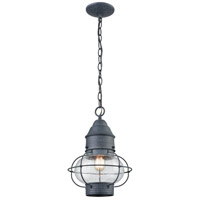 ELK 57173/1 Onion 1 Light 10 inch Aged Zinc Outdoor Pendant
