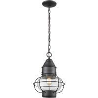 ELK 57183/1 Onion 1 Light 10 inch Oil Rubbed Bronze Outdoor Hanging Lantern