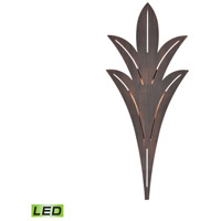 ELK 57191/LED Palm Fronds LED 26 inch Bronze Rust Outdoor Sconce