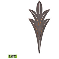 Palm Fronds LED 32 inch Bronze Rust Outdoor Wall Sconce