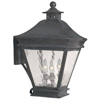 Landings 3 Light 20 inch Charcoal Outdoor Sconce
