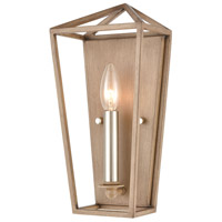 Fairfax 1 Light 6 inch Light Wood with Satin Nickel Wall Sconce Wall Light