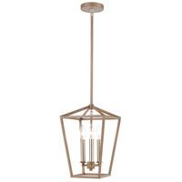 ELK 57224/3 Fairfax 3 Light 9 inch Light Wood with Satin Nickel Mini Pendant Ceiling Light
