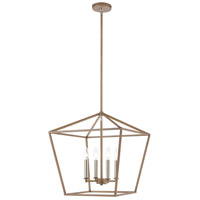 Fairfax 4 Light 18 inch Light Wood with Satin Nickel Pendant Ceiling Light