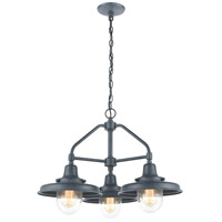 ELK 57263/3 Vinton Station 3 Light 24 inch Aged Zinc Outdoor Hanging