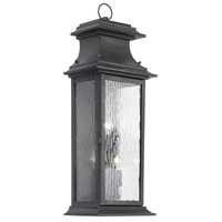 Provincial 3 Light 25 inch Charcoal Outdoor Sconce