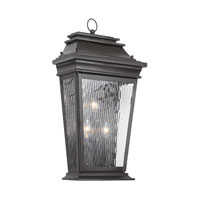ELK Lighting Provincial 3 Light Outdoor Sconce in Charcoal 5729-C