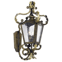 French Quarter 2 Light 24 inch Castle Bronze Outdoor Sconce