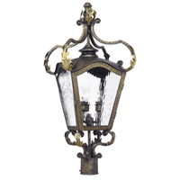 French Quarter 4 Light 26 inch Castle Bronze Outdoor Post Light