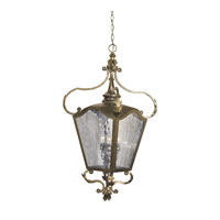 French Quarter 4 Light 14 inch Castle Bronze Outdoor Pendant