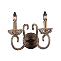 ELK Lighting Elizabethan 2 Light Sconce in Dark Bronze 5961/2