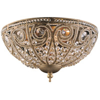 Elizabethan 3 Light 13 inch Dark Bronze Flush Mount Ceiling Light