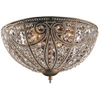 Elizabethan 6 Light 17 inch Dark Bronze Flush Mount Ceiling Light