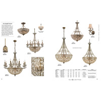 ELK 5964/3 Elizabethan 3 Light 13 inch Dark Bronze Semi Flush Mount Ceiling Light alternative photo thumbnail