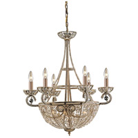 ELK 5967/6+4 Elizabethan 10 Light 26 inch Dark Bronze Chandelier Ceiling Light