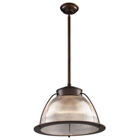 ELK Lighting Halophane 1 Light Pendant in Aged Bronze 60014-1
