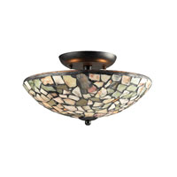 ELK Lighting Trego 2 Light Semi-Flush Mount in Dark Rust 60020-2