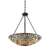 ELK Lighting Trego 4 Light Pendant in Dark Rust 60022-4