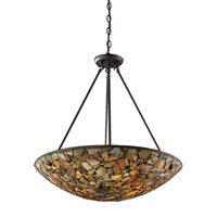ELK Lighting Trego 4 Light Pendant in Dark Rust 60035-4
