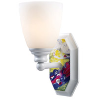 ELK Lighting Kidshine 1 Light Wall Sconce in White Racer Theme 60040-1