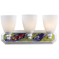 ELK Lighting Kidshine 3 Light Bath Bar in White Racer Theme 60041-3