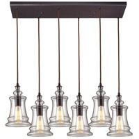 Menlow Park 6 Light Oiled Bronze Pendant Ceiling Light