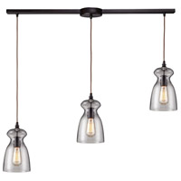 ELK Lighting Menlow Park 3 Light Pendant in Oiled Bronze 60043-3L