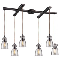 ELK Lighting Menlow Park 6 Light Pendant in Oiled Bronze 60043-6