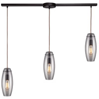 ELK Lighting Menlow Park 3 Light Pendant in Oiled Bronze 60044-3L