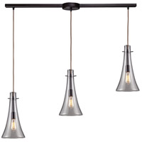 ELK 60045-3L Menlow Park 3 Light 36 inch Oiled Bronze Linear Pendant Ceiling Light in Linear with Recessed Adapter