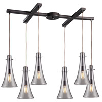 ELK 60045-6 Menlow Park 6 Light 17 inch Oiled Bronze Mini Pendant Ceiling Light in Light Bar, H-Bar
