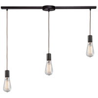 ELK 60046-3L Menlow Park 3 Light 36 inch Oiled Bronze Linear Pendant Ceiling Light in Linear with Recessed Adapter