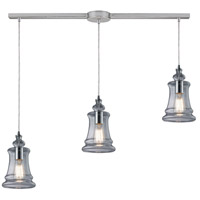 ELK 60052-3L Menlow Park 3 Light 36 inch Polished Chrome Linear Pendant Ceiling Light in Linear with Recessed Adapter
