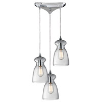 ELK Lighting Menlow Park 3 Light Pendant in Polished Chrome 60053-3