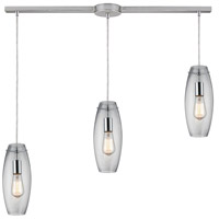 ELK 60054-3L Menlow Park 3 Light 36 inch Polished Chrome Linear Pendant Ceiling Light in Linear with Recessed Adapter