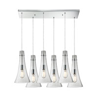 ELK Lighting Menlow Park 6 Light Pendant in Polished Chrome 60055-6RC