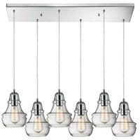 ELK Lighting Menlow Park 6 Light Pendant in Polished Chrome 60057-6RC