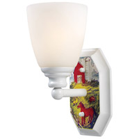 ELK Lighting Kidshine 1 Light Wall Sconce in White Farm Theme 60060-1
