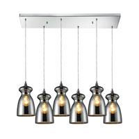 ELK Lighting Menlow Park 6 Light Pendant in Polished Chrome 60063-6RC