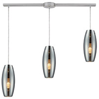 ELK 60064-3L Menlow Park 3 Light 36 inch Polished Chrome Linear Pendant Ceiling Light in Linear with Recessed Adapter