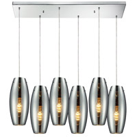 ELK Lighting Menlow Park 6 Light Pendant in Polished Chrome 60064-6RC