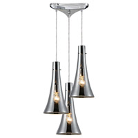 ELK Lighting Menlow Park 3 Light Pendant in Polished Chrome 60065-3